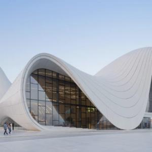 the Heydar Aliyev center of Baku in Azerbaijan